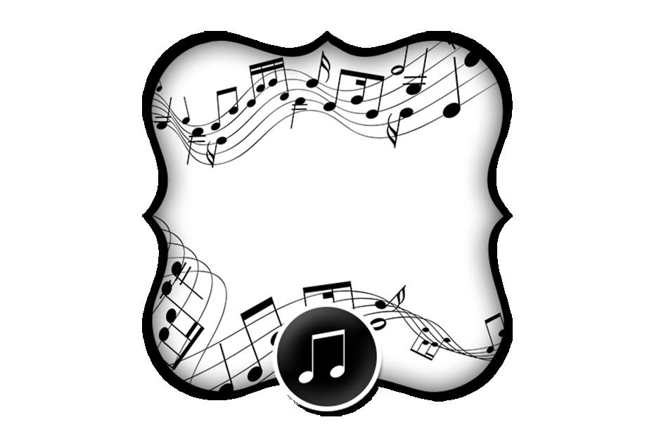 convite moldura e cart227o notas musicais 2 fazendo a