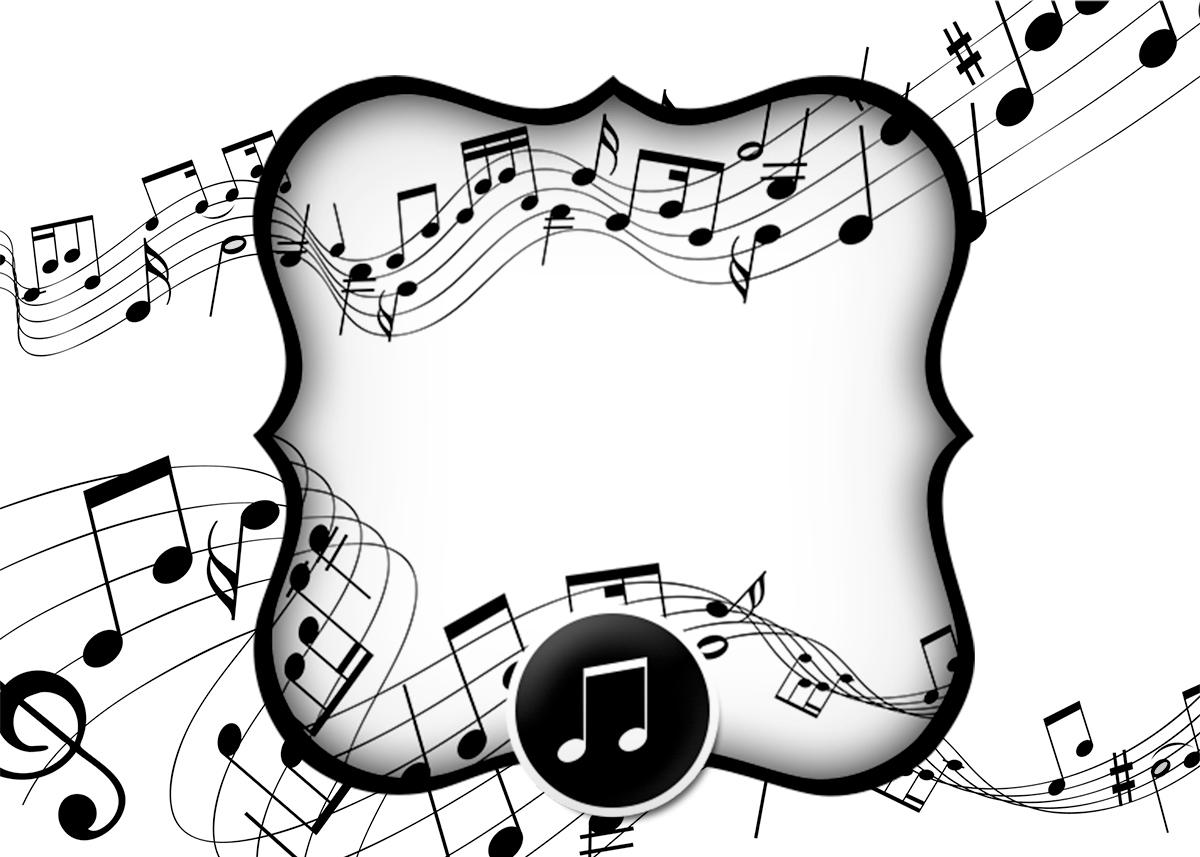 Convite Notas Musicais 2  Fazendo a Nossa Festa