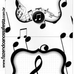 Convite Pirulito Notas Musicais