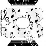 Convite Vestido Notas Musicais