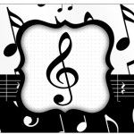 Copo Brigadeiro Notas Musicais