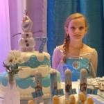 Tubetes Festa do Frozen da Sofia Longo