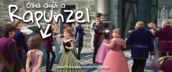 Olha ali a Rapunzel no Filme Frozen - Easter Eggs Frozen