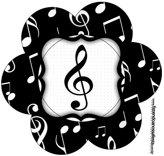 Flor Topper Notas Musicais