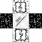 Forminhas Docinhos Quadrada Notas Musicais