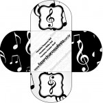 Forminhas Docinhos Redonda Notas Musicais