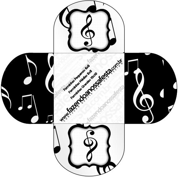 Forminhas Docinhos Redonda Notas Musicais  Fazendo a Nossa Festa