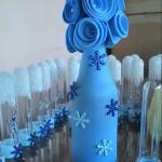 Garrafa Encapada com Balão Tema Frozen