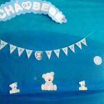 Bandeirinha Varalzinho Chá de Bebê Gêmeos da Priscila