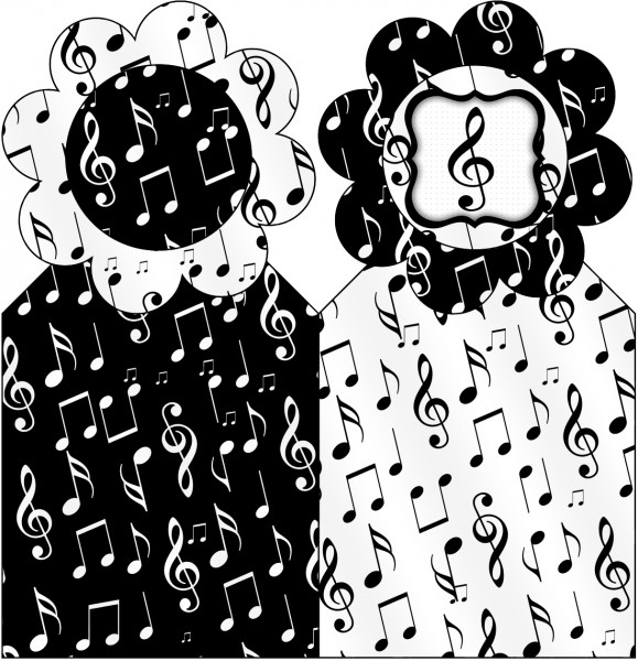 Marcador de Páginas Notas Musicais