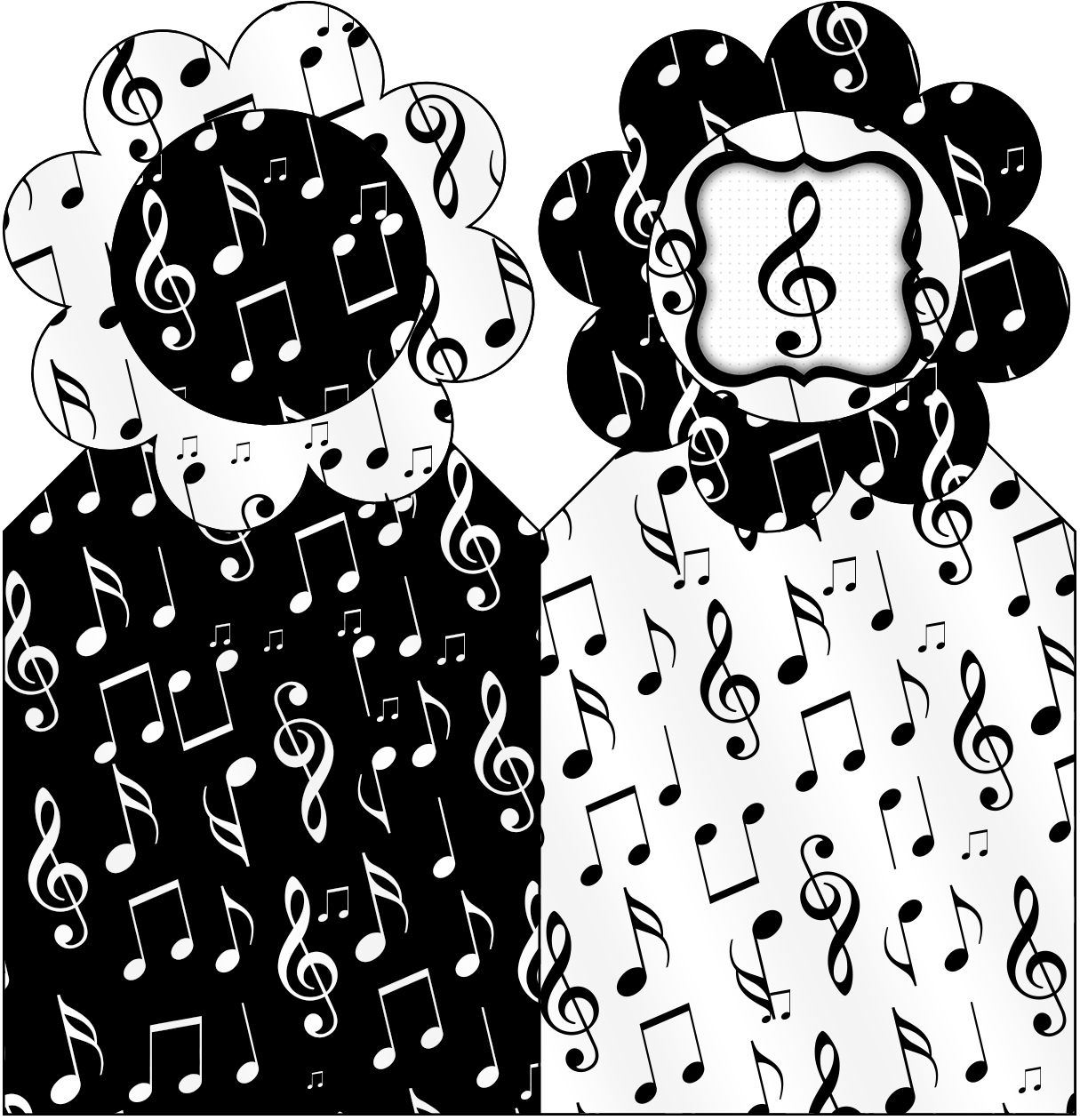 Marcador De Páginas Notas Musicais Fazendo A Nossa Festa