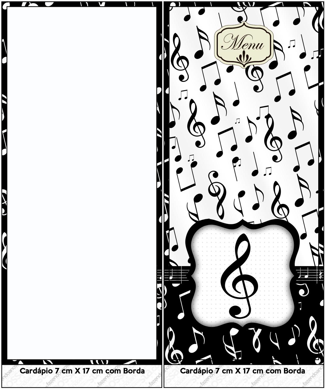 Menu Notas Musicais Fazendo A Nossa Festa