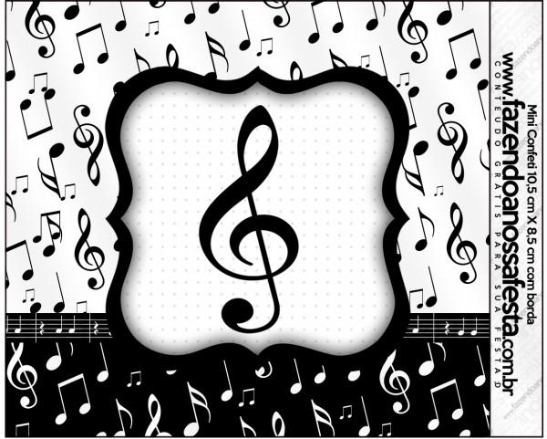 Mini Confeti Notas Musicais