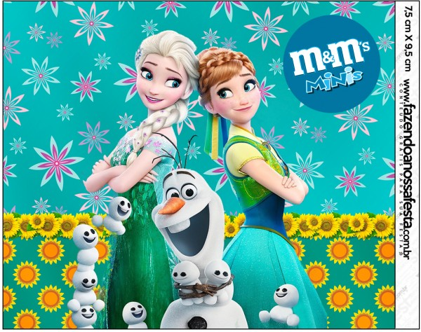 Mini M&M Frozen Fever