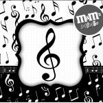 Mini M&M Notas Musicais