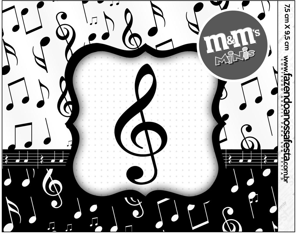 Mini M&M Notas Musicais  Fazendo a Nossa Festa