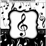 Molde Qualquer tamanho Notas Musicais