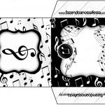 Envelope CD DVD Notas Musicais