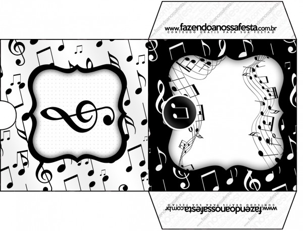 Envelope CD DVD Notas Musicais