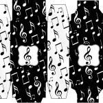 Caixa Sabonte Notas Musicais