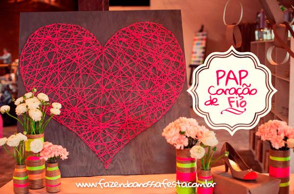 Coração de Fio para Dia das Mães - PAP