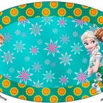 Placa Elipse Frozen Fever