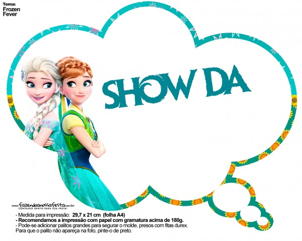 Plaquinhas Divertidas Frozen Fever 25