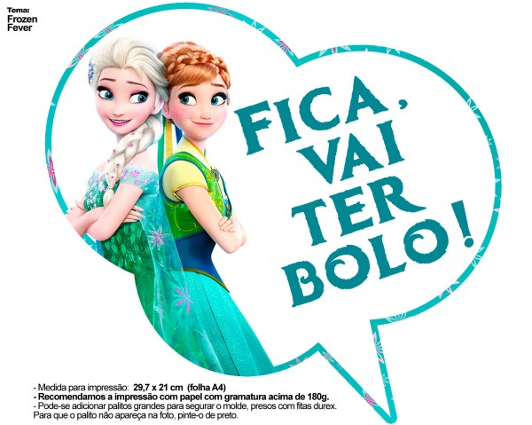 Plaquinhas Divertidas Frozen Fever 16