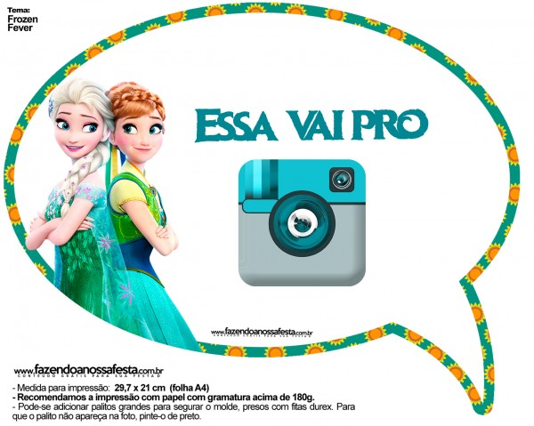 Plaquinhas Divertidas Frozen Fever 15