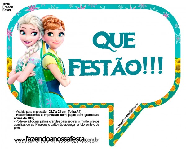 Plaquinhas Divertidas Frozen Fever 9