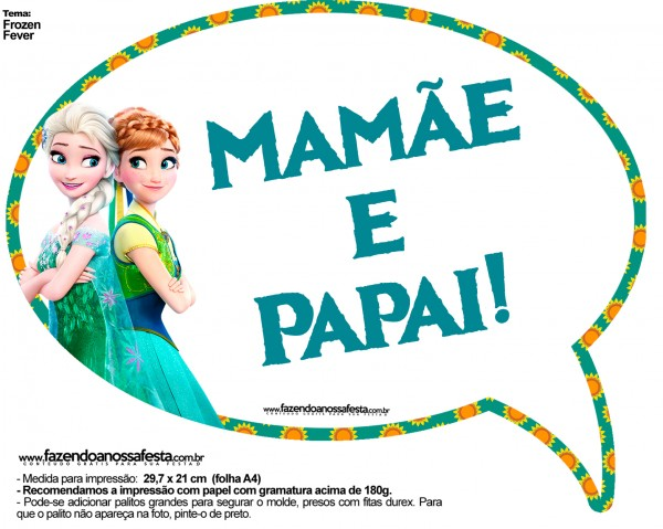Plaquinhas Divertidas Frozen Fever 20