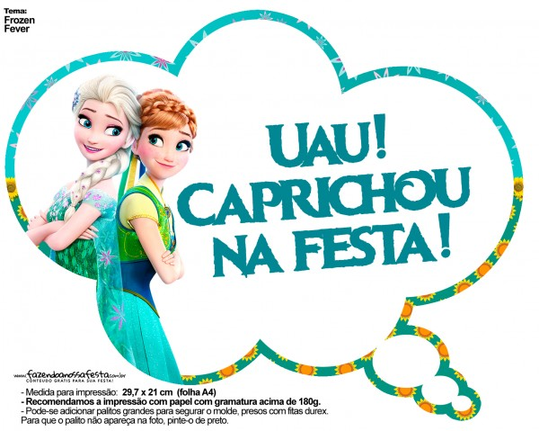 Plaquinhas Divertidas Frozen Fever 11