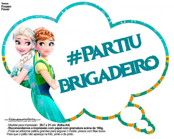 Plaquinhas Divertidas Frozen Fever 14