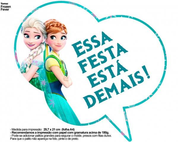 Plaquinhas Divertidas Frozen Fever 23