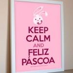 Plaquinha Keep Calm para Páscoa