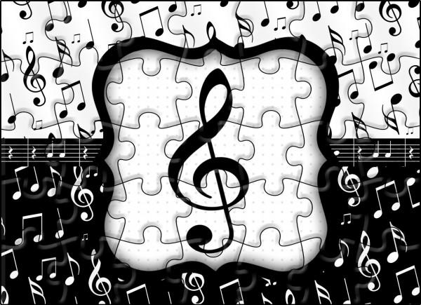 Quebra-cabeça Notas MusicaisQuebra-cabeça Notas Musicais