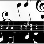Rótulo Água Notas Musicais