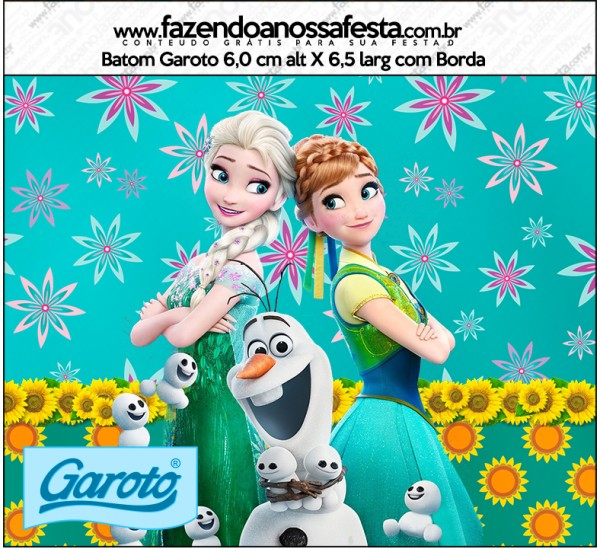 Rótulo Batom Garoto Frozen Fever