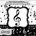 Rótulo Batom Garoto Notas Musicais