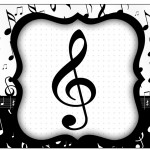 Rótulo Espumante Notas Musicais