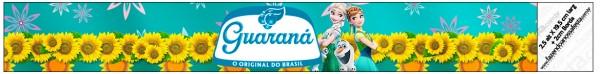 Rótulo Guaraná Caçulinha Frozen Fever