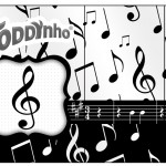 Rótulo Toddynho Notas Musicais