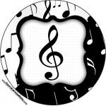 Rótulo Tubetes, Latinhas e Toppers Notas Musicais