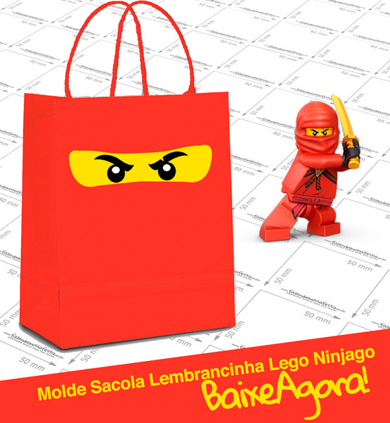 Moldes Sacolinha Lego Ninjago