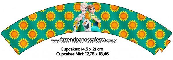 Saias Wrappers para Cupcakes Frozen Fever