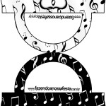 Saquinho de Balas Bolsinha Notas Musicais