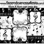 Saquinho de Balas Notas Musicais
