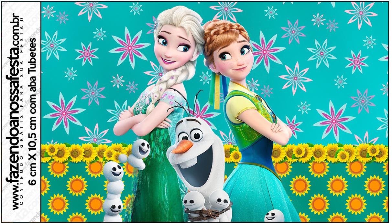 Tubetes Frozen Fever - Fazendo a Nossa Festa