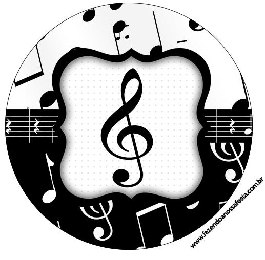 Tubetes, Toppers e Latinhas Notas Musicais