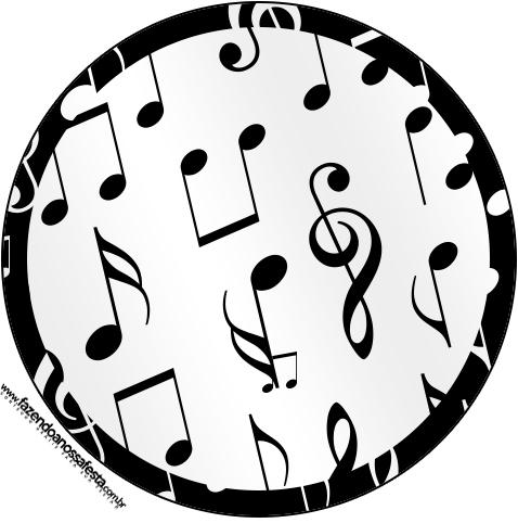 Tubetes e Toppers Notas Musicais
